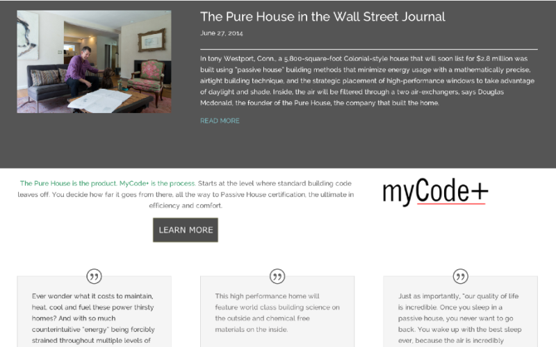 The Pure House, website