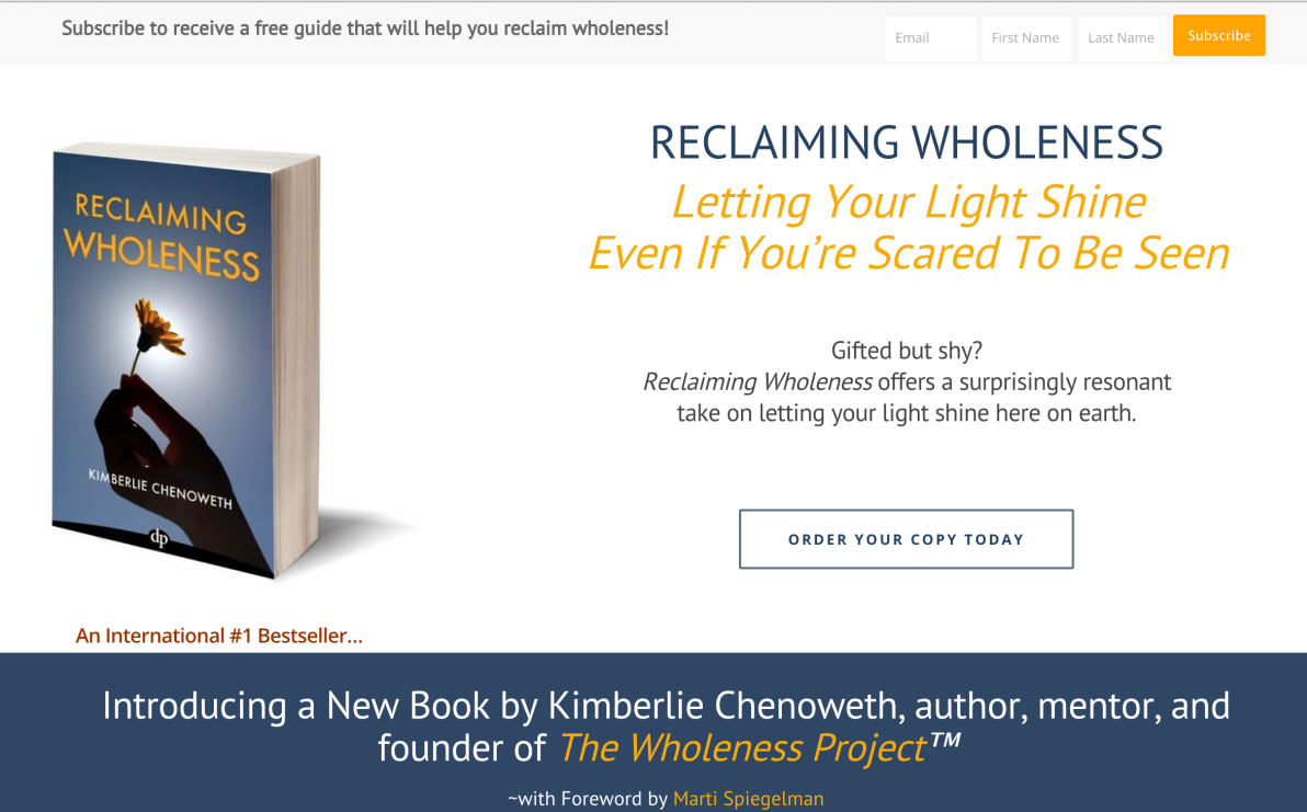 Reclaiming Wholeness Book